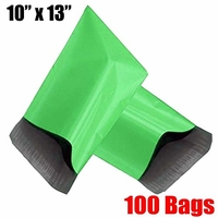 iMBAPrice® 100 - 10x13 Green Color Poly Mailers Shipping Envelopes Bags (Total 100 Bags)