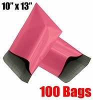 iMBAPrice® 100 - 10x13 Pink Color Poly Mailers Bags (Total 100 Bags)