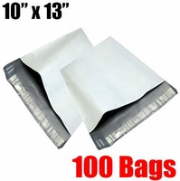 iMBAPrice® 100 - 10x13 White Poly Mailers Bags (Total 100 Bags)