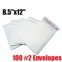 iMBAPrice 100 Count - #2 - 8.5x12 Poly Bubble Mailer Padded Envelopes (iMBA-PB-2-100)