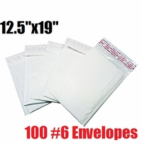 * iMBAPrice 100 Count - #6 - 12.5x19 Poly Bubble Mailer Padded Envelopes (iMBA-PB-6-100)