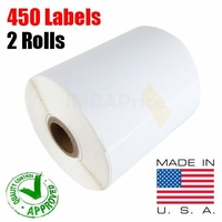 iMBAPrice� 2 Rolls of 450 Label (USA MADE) 4x6 Direct Thermal label