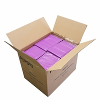"iMBAPrice 250-Pack #0 (6"" x 10"") Premium Mat Purple Color Self Seal Poly Bubble Mailers Padded Shipping Envelopes"