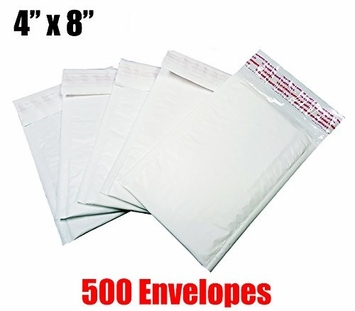 *On-Backorder* iMBAPrice 500 Count - #000 - 4x8 Poly Bubble Mailer Padded Envelopes (iMBA-PB-000-500)