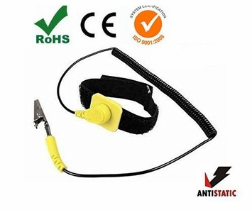 iMBAPrice® Anti-Static Adjustable Grounding Wrist Strap Components Black, Yellow