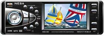 """NESA VISION (NSD-360)  3.6"""" In-Dash Monitor - NESA (NSD-360)  3.6"""" TFT LCD Active Matrix Color Monitor with DVD/CD/MP3 & AM/FM Stereo Receiver System"""