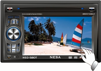"*NESA VISION (NSD-580T) In-Dash Car Monitor - NESA NSD-580T 5.8"" In-Dash Wide Double DIN LCD Car Monitor, FM/AM Receiver / DVD Player with Remote and Built-in TV Tuner"