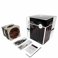 Noctua - NH-D14 SE2011 Quiet CPU Cooler for Intel LGA 2011 Socket with 6 Heatpipes, 140/120mm SSO Bearing PWM Fans