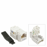 (Pack of 10) - Keystone Jack Tooless RJ-45 Cat-6 White (RJ45 Cat6 Tool Less)