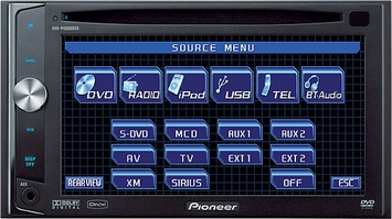 "*Pioneer (AVH-P4000DVD) In-Dash Double-DIN DVD Multimedia AV Receiver with 6.1"" Widescreen AV Receiver"