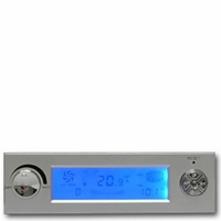 *Silver Multi-Function Controller with LCD Display Temperature Monitor and Fan Control Panel