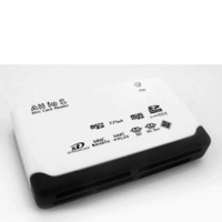 Super Talent EXT-103C-W External Card Reader with micro SD Card slot (White)