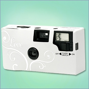 20 Exposure Single Use Wedding Camera - Love Design