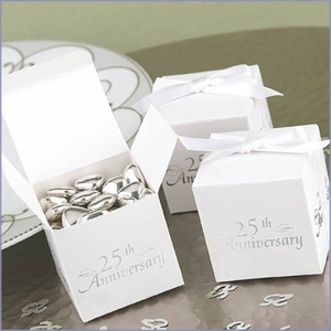 25th Anniversary Favor Boxes - Pack of 25