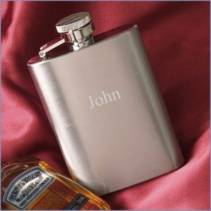 3.5oz Satin Matted Flask