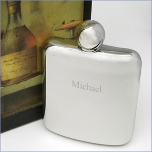 6oz. Smooth Stainless Steel Flask