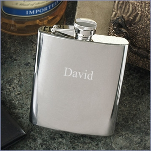8oz Shiny Large Flask