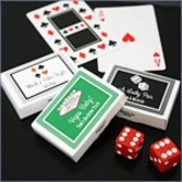 A Lucky Pair Vegas Themed Personalized Gum Boxes Wedding Favors