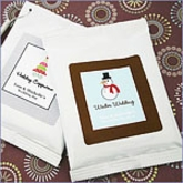 A Winter Holiday Personalized Hot Cappuccino Wedding Favors