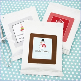 A Winter Holiday Personalized Hot Cocoa Wedding Favors