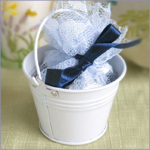 Beach Pail Wedding Favor - White