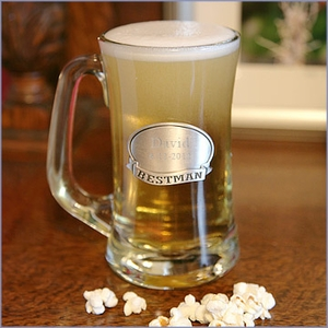 Beer Mug Pewter Medallion