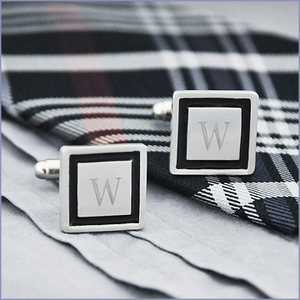 Black Border Cufflinks