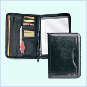 Black Leather Padfolio