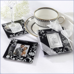 Black & White Glass Photo Coasters