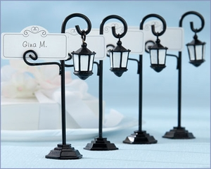 Bourbon Streetlight Place Card Holder with Place Cards - Set of 4