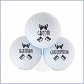 Bridal Party Golf Ball Set - Men's - Set of 3