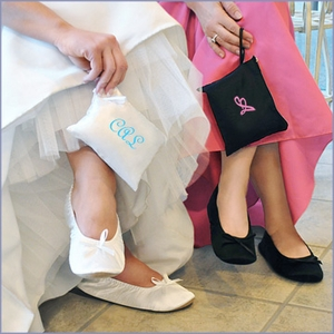 Bride and Bridesmaids Ballet Shoes