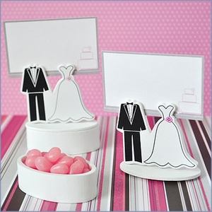 Bride & Groom Place Card Wedding Favor Boxes (set of 12)