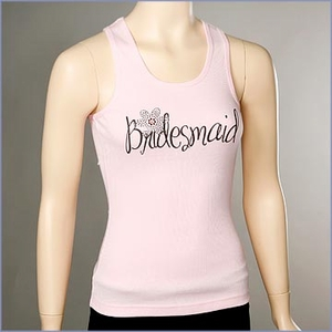 Bridesmaid Daisy Ribbed Tank Top