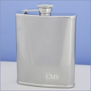 Bryson Personalized Textured Flask