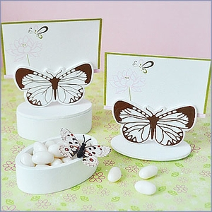 Butterfly Place Card Wedding Favor Boxes (set of 12)