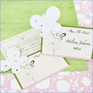 Butterfly Plantable Seed Wedding Place Cards (set of 12)
