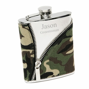 Camo Cloth Zippered Flask
