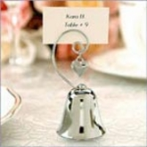 Silver Bell & Heart Charm Favor