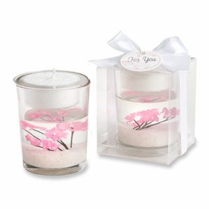 Cherry Blossom Filled Tealight Holder
