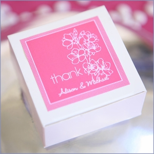 Cherry Blossom Personalized Wedding Tags & Labels - Set of 20