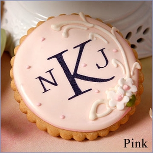 Circle Bridal Shower Monogram Cookie