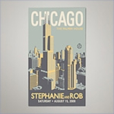 City Wedding Personalized Magnets - Chicago (Set of 100)