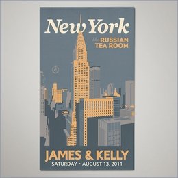 City Wedding Personalized Magnets - New York (Set of 100)