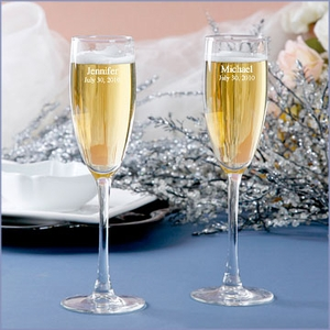 Classic Personalized Toasting Flutes Set