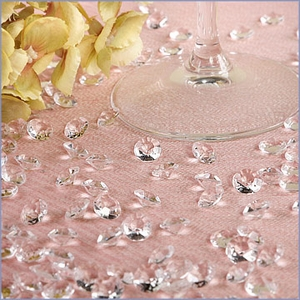 Clear Diamond Shaped Wedding Table Decoration Jewels