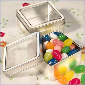 Clear Top Mint Tin Wedding Favors