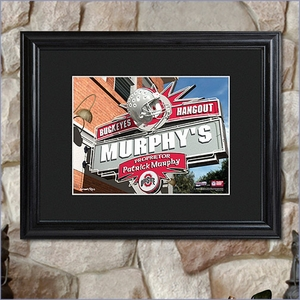 College Hangout Personalized Print with Wood Framing