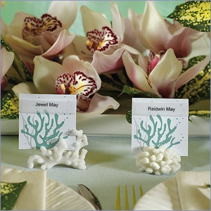 Coral Place Card Holders - Set of 8
