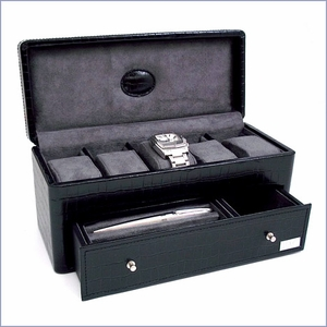 Croc Leather Jewelry and Watch Box